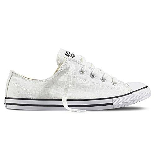 Converse Womens CT All Star Dainty Low Top White Canvas Trainers 8.5 US