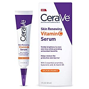 CeraVe Vitamin C Serum with Hyaluronic Acid | Skin Brightening Serum for Face with 10% Pure Vitamin C | Fragrance Free…