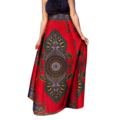 Tootless Women Dashiki African Print Big Pendulum Short Casual Long Skirt 7 2XL by Tootless-Women