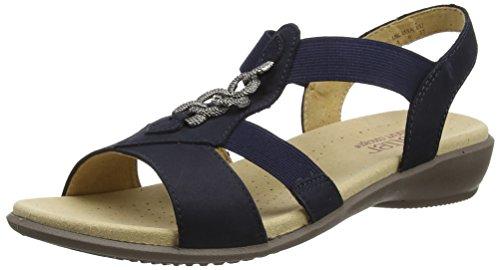 Hotter HotterBeam - Sandalias de Punta Descubierta Mujer azul (marino)