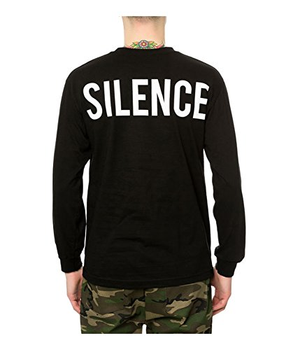Black Scale - Black Scale Mens The Moment of Silence LS Graphic T-Shirt Black L