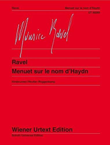 Menuet sur le nom d'Haydn pdf