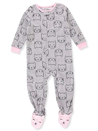 f043831ca Galleon - Carter's Baby Girls' 12M-5T One Piece Fleece Pajamas, Sweet  Kittes, 4T