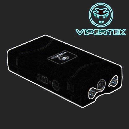 Vipertek VTS-880-1 Black 22 Million Volt Stun Gun Rechargeable LED Light