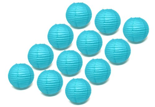 "12 Bulk 12"" Large Wedding/Party / Baby Shower Decoration Paper Lanterns (Blue)"