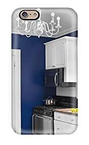 New Cute Funny Deep Blue Walls And Crisp White Cabinets And Stainless Steel Appliances Case Cover/ Iphone 6 Case Cover