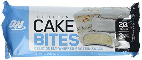 Optimum Nutrition Protein Cake Bites – Birthday Cake
