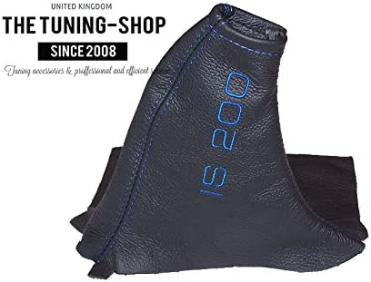Shift /& Ebrake Boot For Lexus IS 200 300 1998-05 Leather Blue Stitching