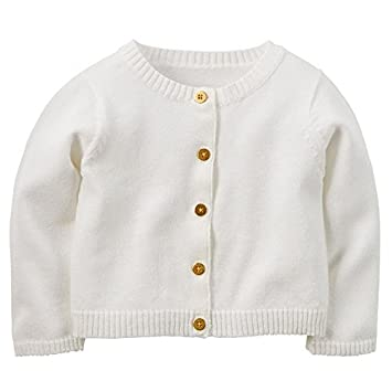 Amazon.com: Carter's Baby Girls' Sparkle Cardigan Ivory With Gold ...