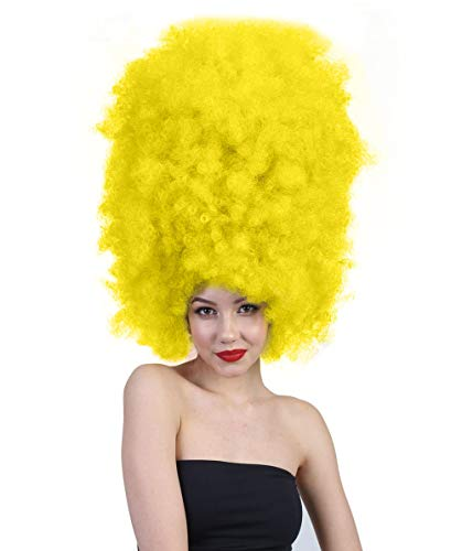 Halloween Party Online Super Size Jumbo Afro Wig Collection, Adult & Kids (Adult, Yellow)]()