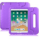 eTopxizu Tablet Case for New iPad 9.7 Inch 2018/2017 - Shockproof Case Light Weight Kids Case Cover with Handle Stand Case for iPad 9.7 Inch 2018 & 2017 New Model/iPad Air/iPad Air 2, Purple