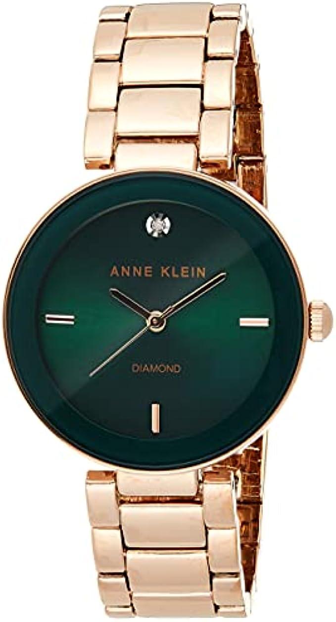 שעון צמיד מחוגה יהלום אמיתי לנשים של Anne Klein