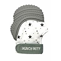 Munch Mitt Pastels Specialty Collection- Original Silicone Teether Mitten- Li...