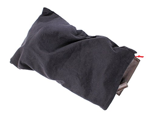Earthwise Boot Shoe Bag 100% Cotton MADE IN THE USA in Black with Drawstring for storing and protecting boots (Pack of 2) by Earthwise (Image #3)
