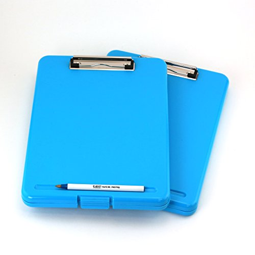 2PC/Set Letter Size Plastic Storage Clipboard (Blue) by JCHB