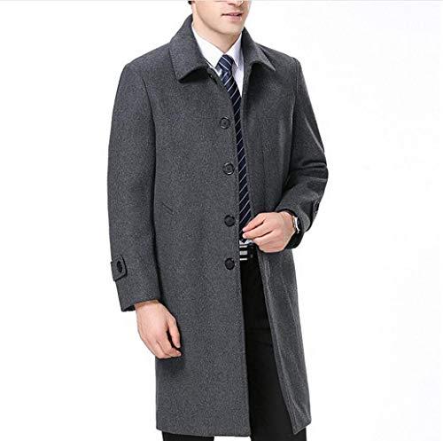 Dimensioni Lavoro Inverno Qkdsa Autunno Cappotto Nero Di Gray Da Giacca A Caldo colore Vento Xl E Lana Spessore Uomo 1zaq18w