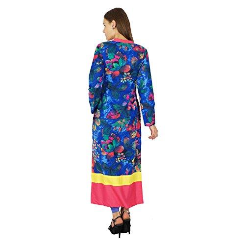 Diseñador Phagun india de Bollywood Kurta Mujeres étnico Kurti vestido de la túnica ocasional Azul y rosado