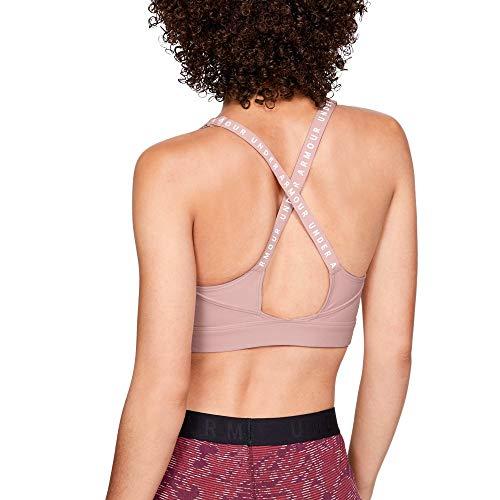 (Under Armour Women's Balance Mid Sports Bra, Flushed Pink (602)/Tonal, Medium)