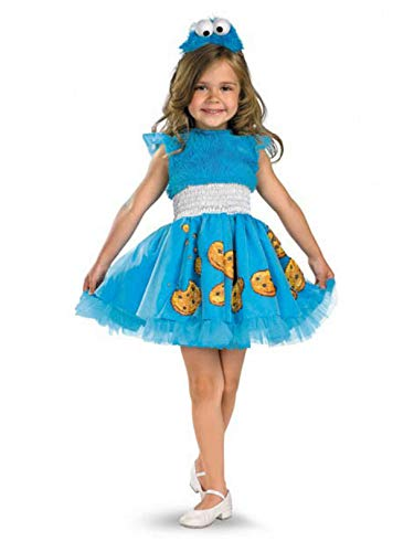 Cookie Monster Halloween Costume Female (Cookie Monster Frilly Child)