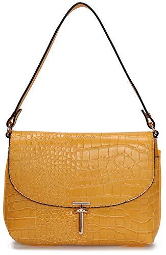 (Women's Designer Purse MK CUTE Designer Organizer LV Handbags Luxury Travel Crossbody Shoulder Satchel Ladies Small Capacity Pockets PU Leather (Yellow))