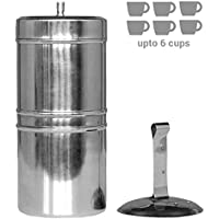 Kitchen Mart Stainless Steel South Indian Filter Coffee Drip Maker, 600ml (600-ML)