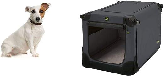 Maelson Soft Kennel - Caja para Perros (62 x 41 x 41 cm), Color Gris: Amazon.es: Productos para mascotas