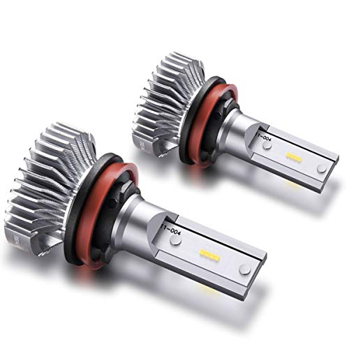 SEALIGHT H11/H8/H16 LED Fog Lights Bulbs Cool Xenon White 4000 Lumen 6000K Non-polarity