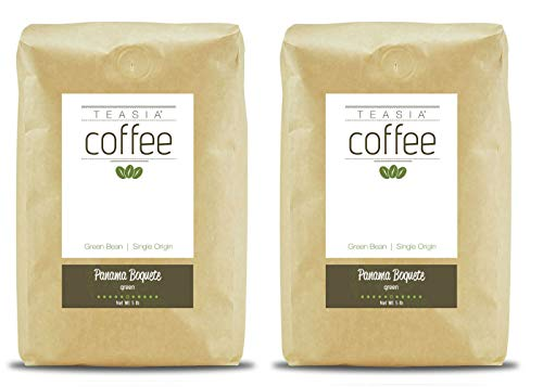 Teasia Coffee, Panama Boquete, 2-Pack, Single Origin, Green Unroasted Whole Coffee Beans, 5-Pound Bag by Teasia (Image #1)