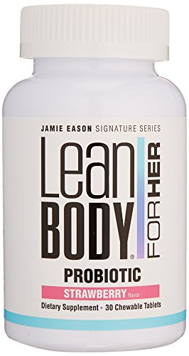 Jamie Eason Lean Body Womens Probiotics For Weight Loss, Natural Weight Loss Probiotic Supplement For Women, Strawberry Chewable, 30 Chews