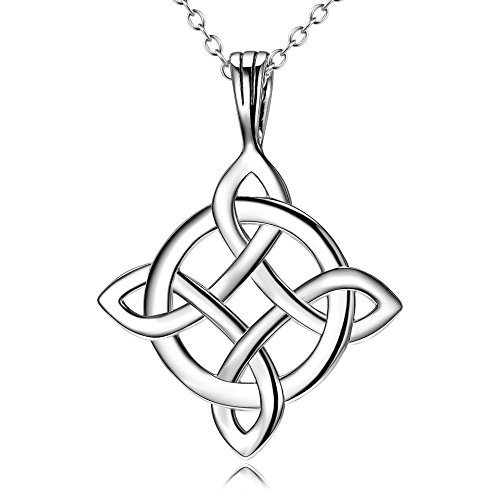 - YFN Sterling Silver Celtic Knot Pendant Necklace 18