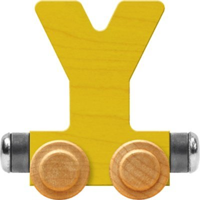 - NameTrain Bright Letter Car Y - Made in USA (Yellow)