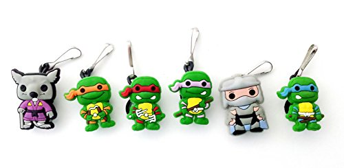 April Oneil Ninja Turtle Costume (AVIRGO 6 pcs Zipper pulls Charms for Jacket Backpack Bag Pendant Set # 79-2 by Hermes)