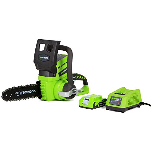 Greenworks 10-Inch 24V Cordless Chainsaw, 2.0 AH Battery Included 20362