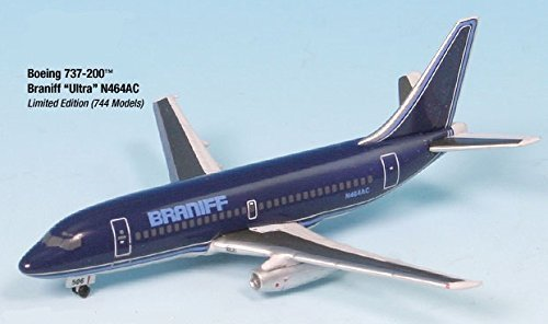 Genesis Worlwide Airplane Miniature Braniff Ultra N464AC Boeing 737-200 1:500 Part# A015-IF5732007