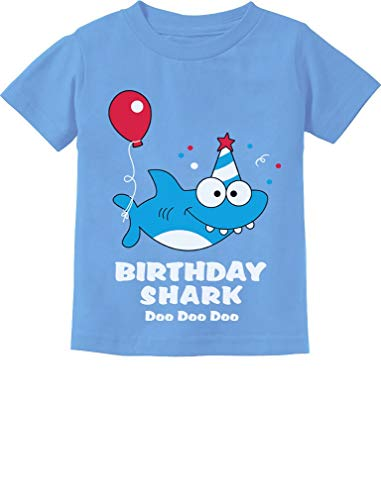 Baby Shark Doo doo doo First/2nd Birthday Shark Outfit Infant Kids T-Shirt 18M California Blue