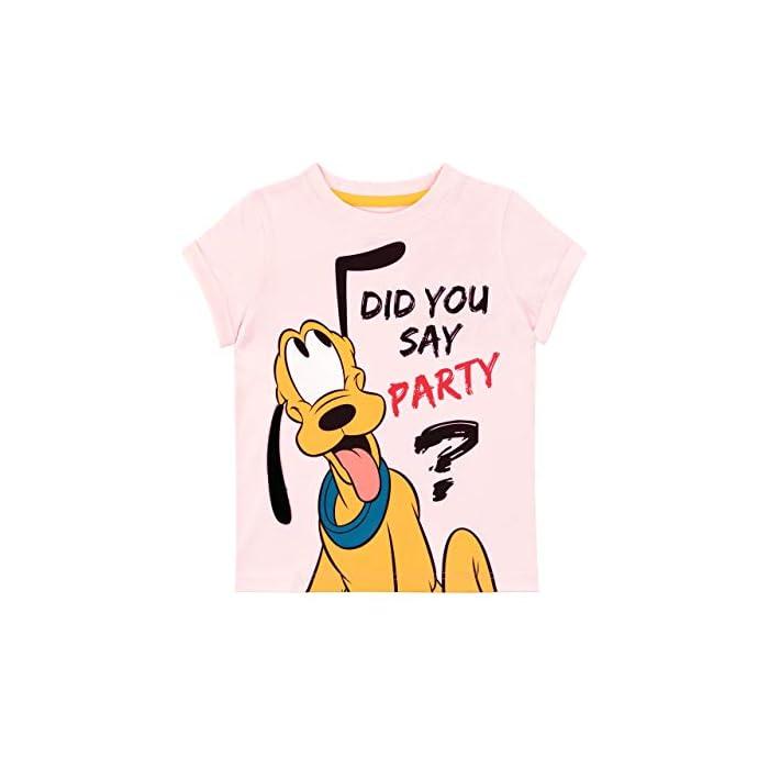 Camiseta para niñas de Pluto. ¡Haz una entrada triunfal a la fiesta más grande de Mickey Mouse con esta increíble camiseta! 100% Algodón