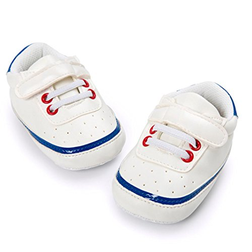 ❆Huhu833 Kinder Mode Baby Schuhe Soft Sole, Baby Kleinkind Schuhe runde Zehe flache weiche Pantoffel Schuhe (0~18 Month) Blau
