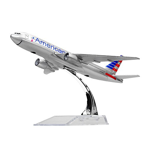 0 American B777 Metal 6.3inches(16cm) Plane Model Office Decoration or Gift by LESES ()