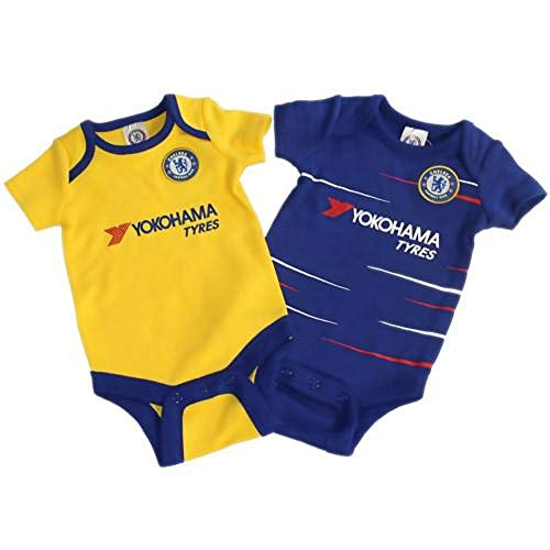 Chelsea FC - Authentic Cute Baby Body Suits 2 Pack (6-9 Months)