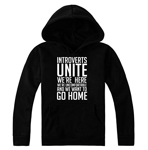 Introverts Unite - We Are Here And We Want To Go Home Women's Hoodie Pullover