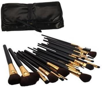 sarasweet belleza – Juego de Studio ROD maquillaje cepillo cosméticos set kit caso brochas de maquillaje con piel pouch- para sombra de ojos, base de maquillaje, corrector, etc.: Amazon.es: Belleza
