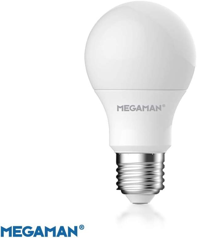 Megaman 142578 - Bombilla LED regulable RichColour R9 GLS estilo clásico de ópalo E27, rosca Edison, 4000 K, blanco frío, 9,5 W, 810 lm, clasificación A+, 25000 horas de vida estimada