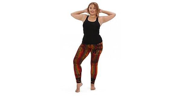 bcaf8e50738 Amazon.com  The Comfy Monk Plus Size Yoga Leggings Rainbow Vertical Tie dye   Clothing