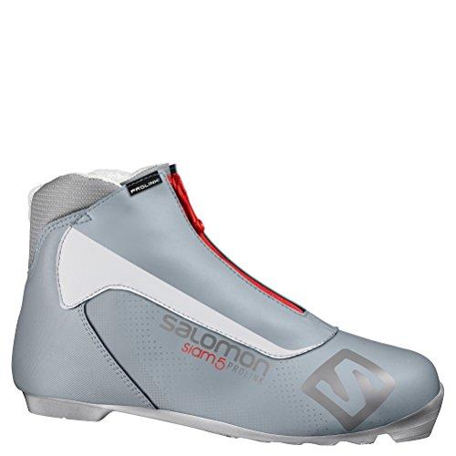 (Salomon Siam 5 Prolink Womens NNN Cross Country Ski Boots 2017 - 10.0/Grey)