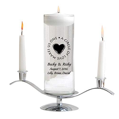 Personalized Floating Wedding Unity Candle Set- Second ()