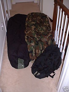 US MILITARY 3PC MODULAR SLEEPING BAG SYSTEM GORETEX, Outdoor Stuffs