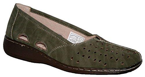 Cushion Walk Ladies Olive Green Slip ON Summer Shoe Olive 4wOexxaPJD