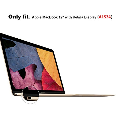new product b46f6 827a1 MacBook 12 Inch Case A1534, ProCase Rubberized Hard Case Shell Cover ...