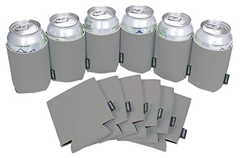 Koozie Can Cooler Collapsible Blank Neoprene (Gray, 12)