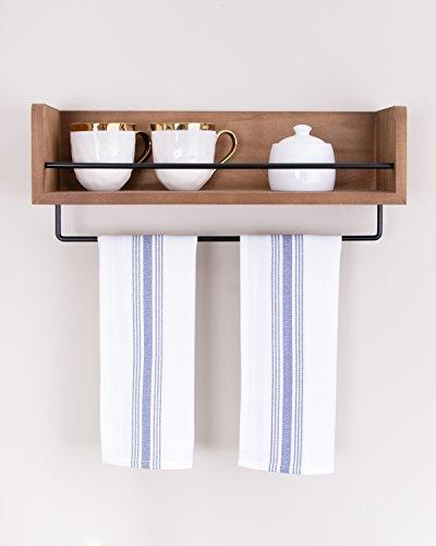 Value Basics Herringbone Stripe Kitchen Towel Set, 15'' x 25'', 14-Pack, Blue & White by Value Basics (Image #5)